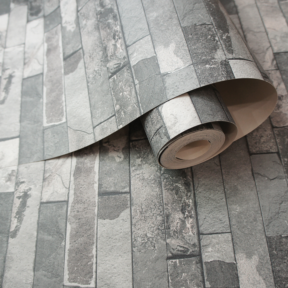 Picture of Statement Textured Wallcoverings: Slate Grey