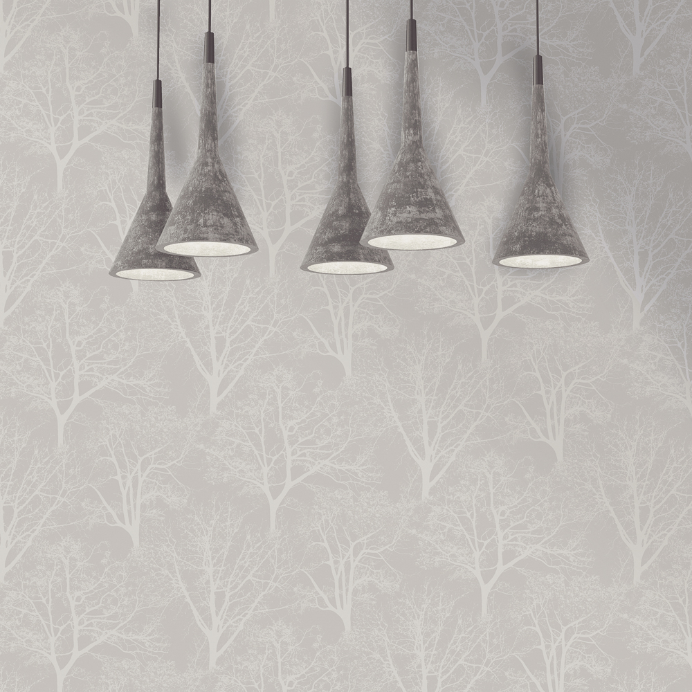 Picture of Statement Opulent Wallcovering: Kaisa Grey