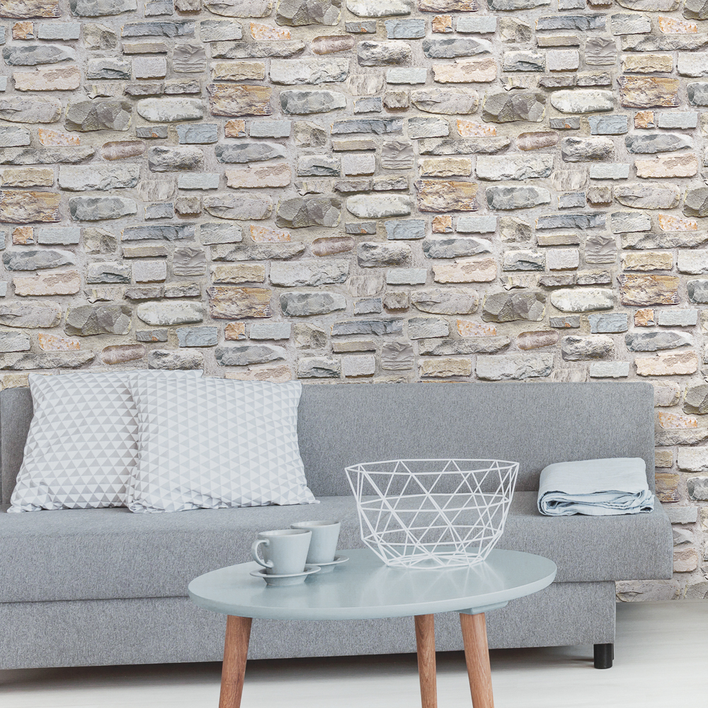 Picture of K2 Feature Wallpapers: Marley Stone Grey