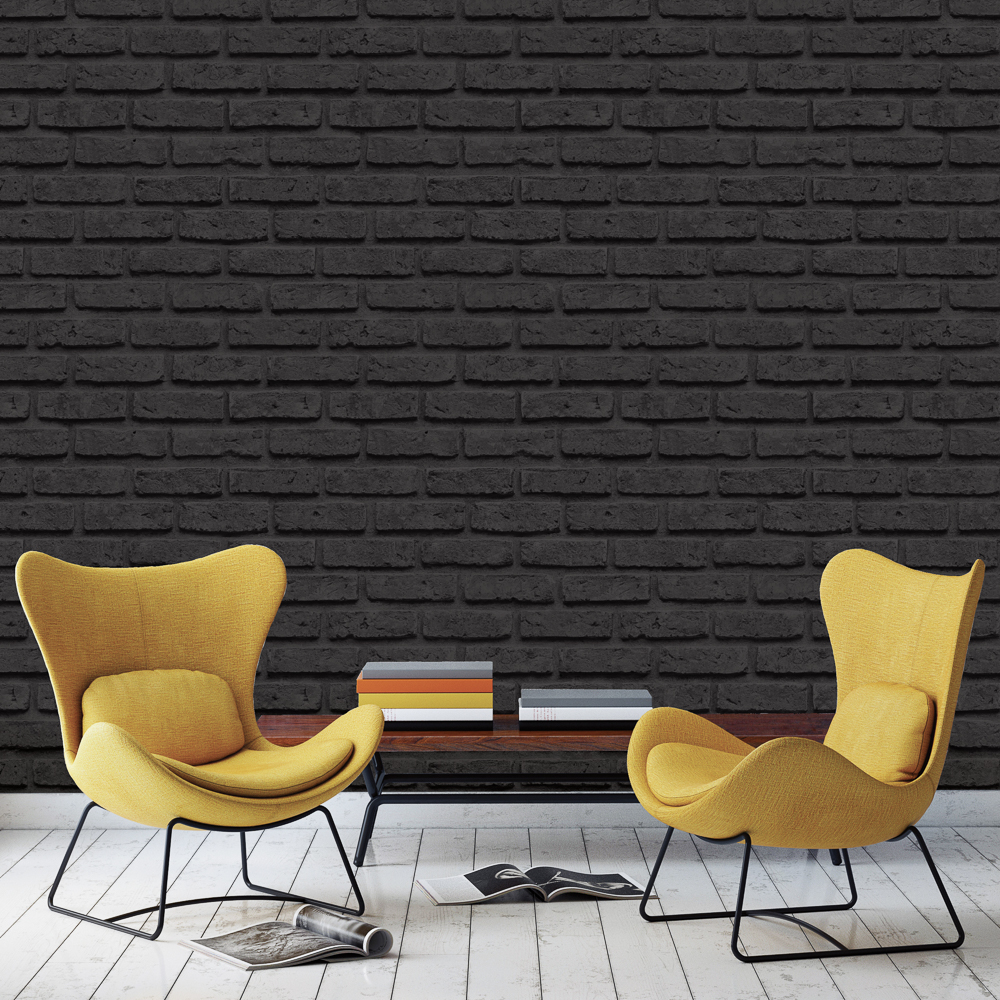 Picture of K2 Living Wallcovering: Brick Black