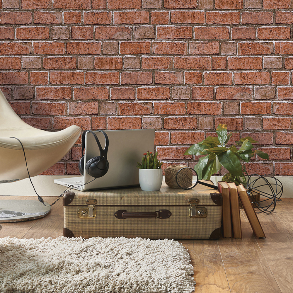 Picture of K2 Living Wallcovering Brick Red