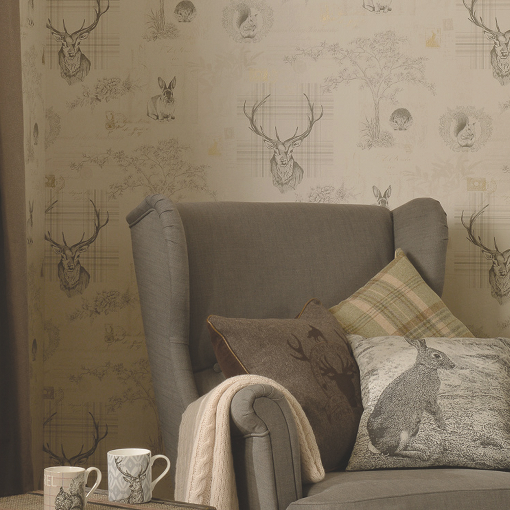Picture of K2 Living Wallcovering: Woodland Collage Paper