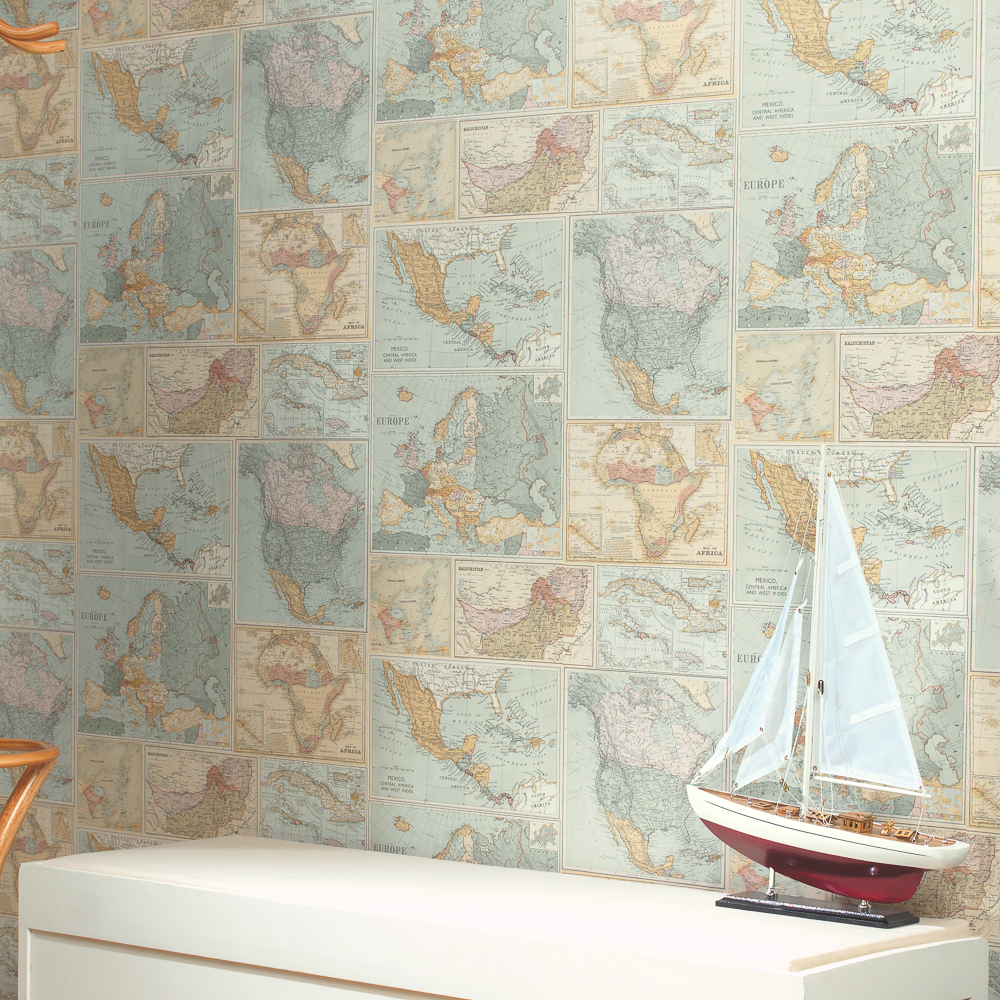 Picture of K2 Feature Wallcovering: Around the World Paper