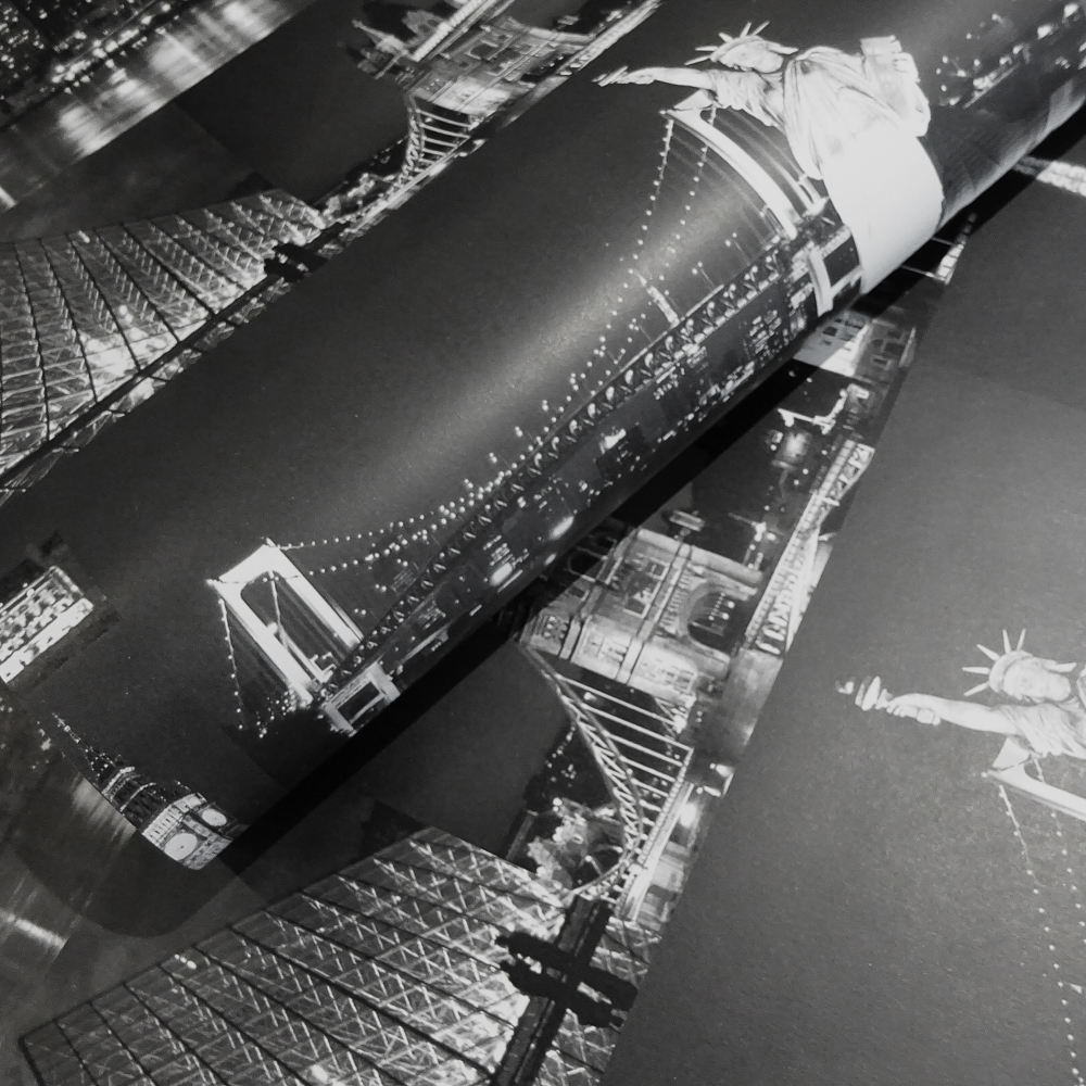 Picture of K2 Feature Wallcovering: Midnight Cityscapes Black