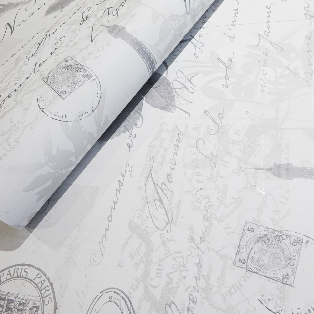 Picture of K2 Feature Wallcovering: Parisian Collage Grey