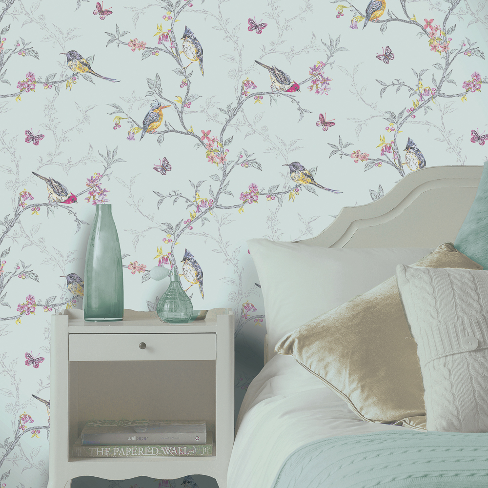 Picture of K2 Feature Wallcovering: Bird Trail Blue