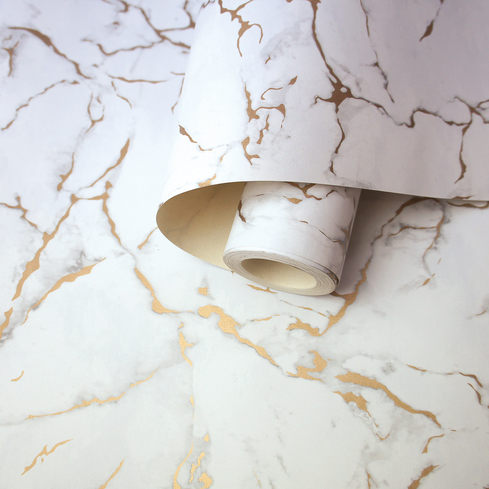 Picture of K2 Feature Wallpapers: Grey/Rose Gold Vermont Marble