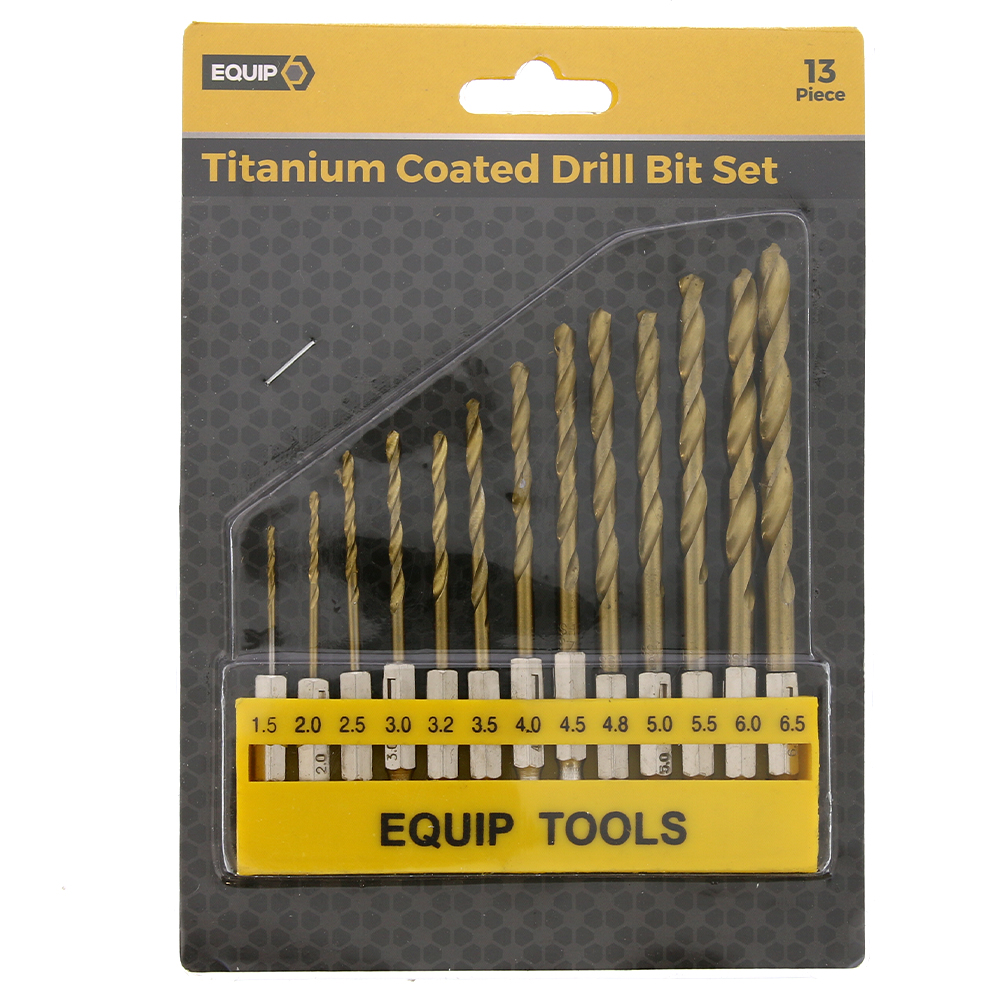 Picture of Equip Titanium Coated Drill Bit 13 Piece Set