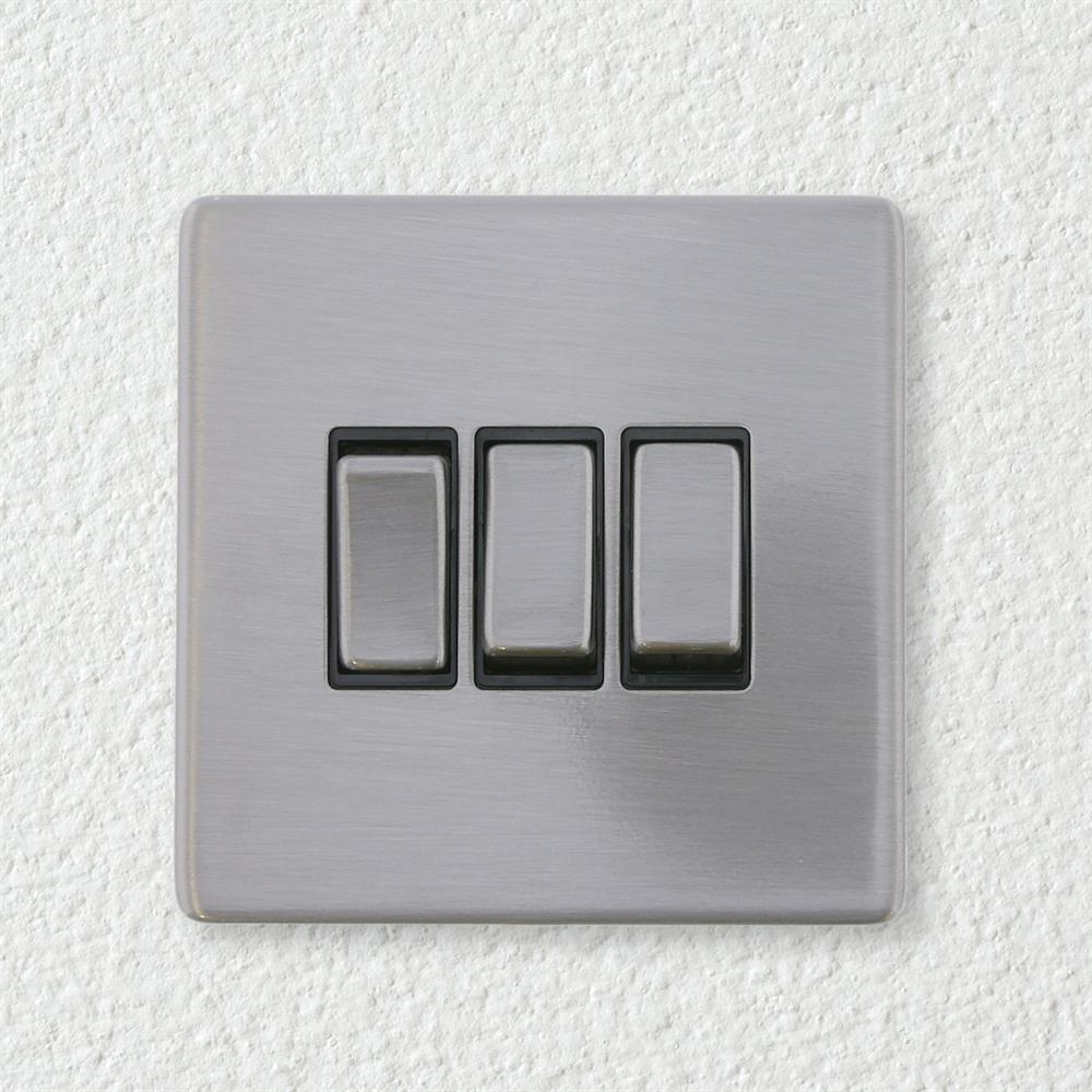 Picture of Brushed Chrome Triple Switch Plate