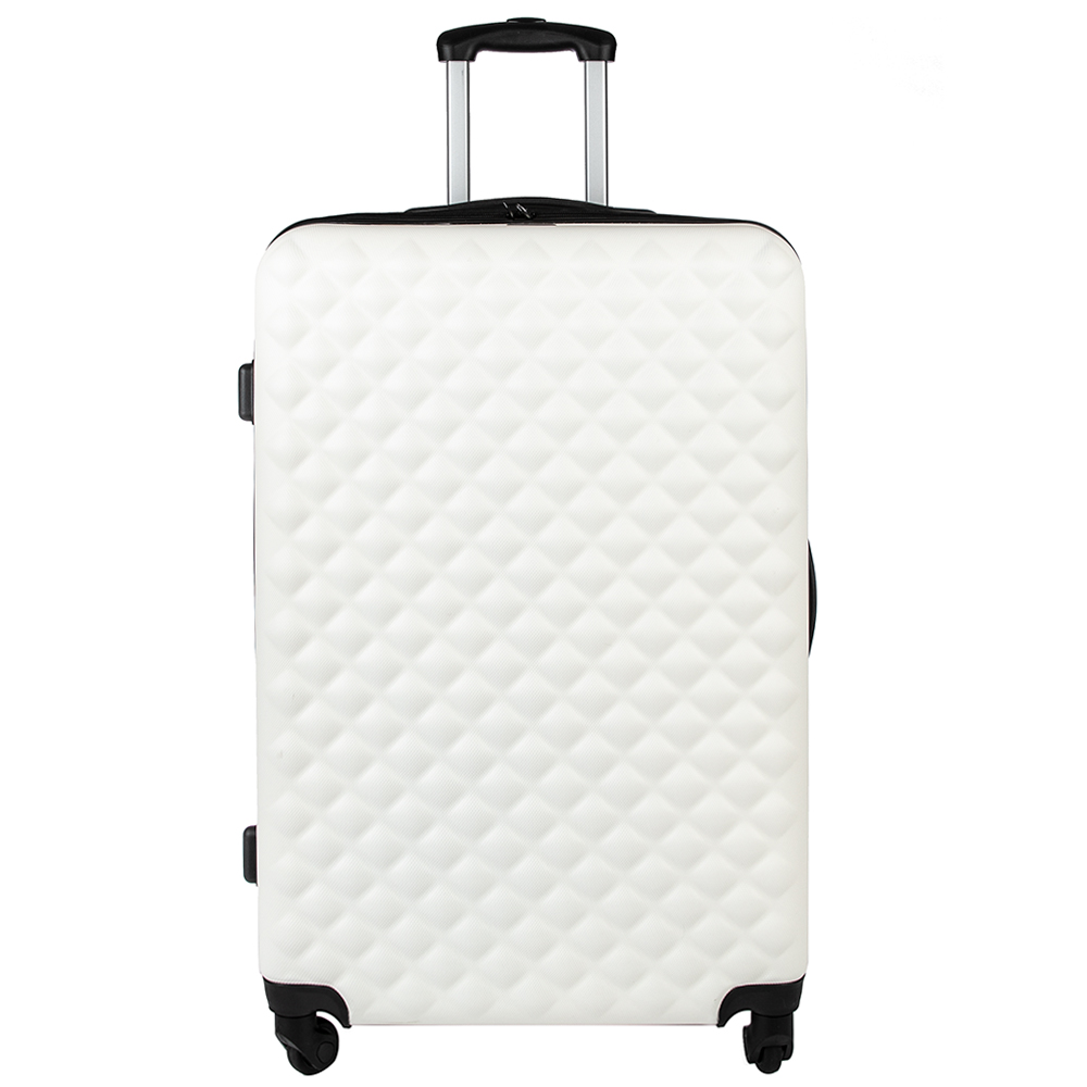 Picture of Salisbury Embossed Quilted Shell Suitcase: Off White