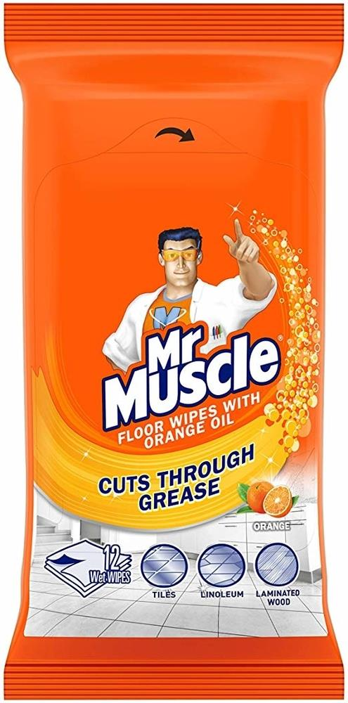 Picture of Mr Muscle Floor Wipes with Orange Oil (Case of 8 Packs)