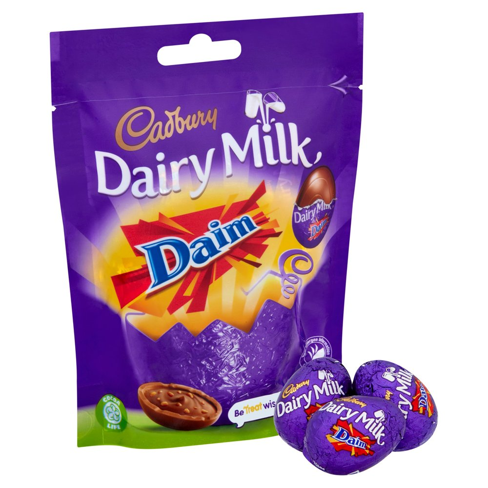 Picture of Dairy Milk Daim Chocolate Eggs (18 x 86g Bags)