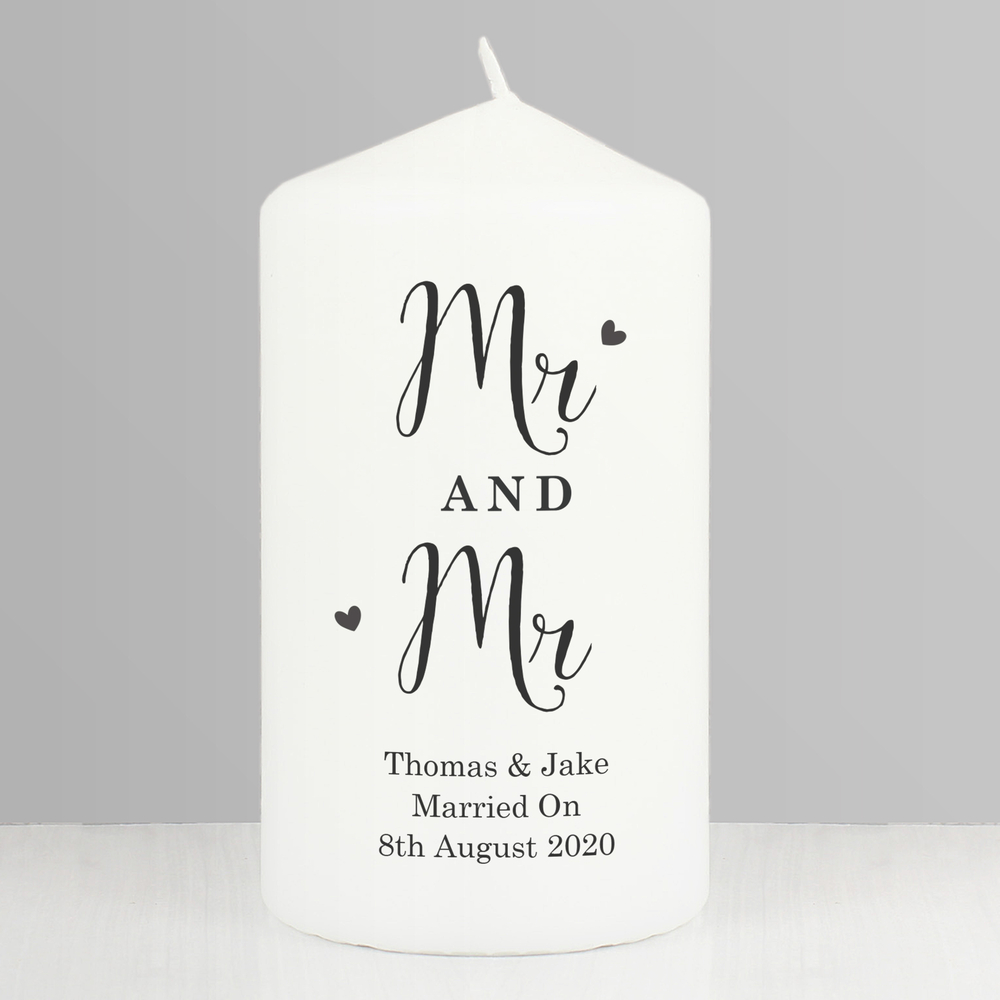 Picture of Personalised Married Couple Pillar Candle