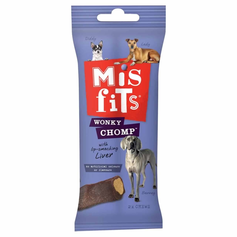 Picture of Misfits Wonky Chomp: Lip Smacking Liver (12 x 170g Packs)