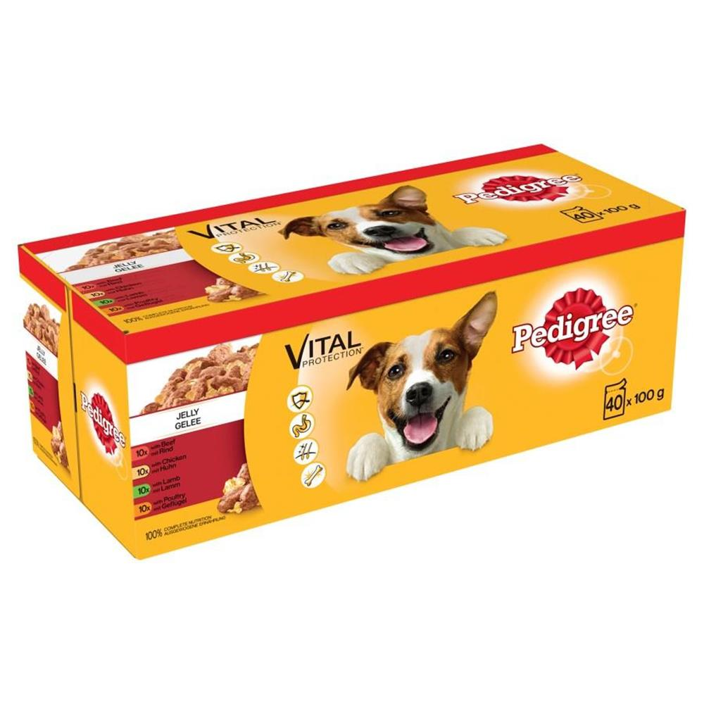 Picture of Pedigree Adult Vital Protection: Jelly (40 x 100g Pouches)