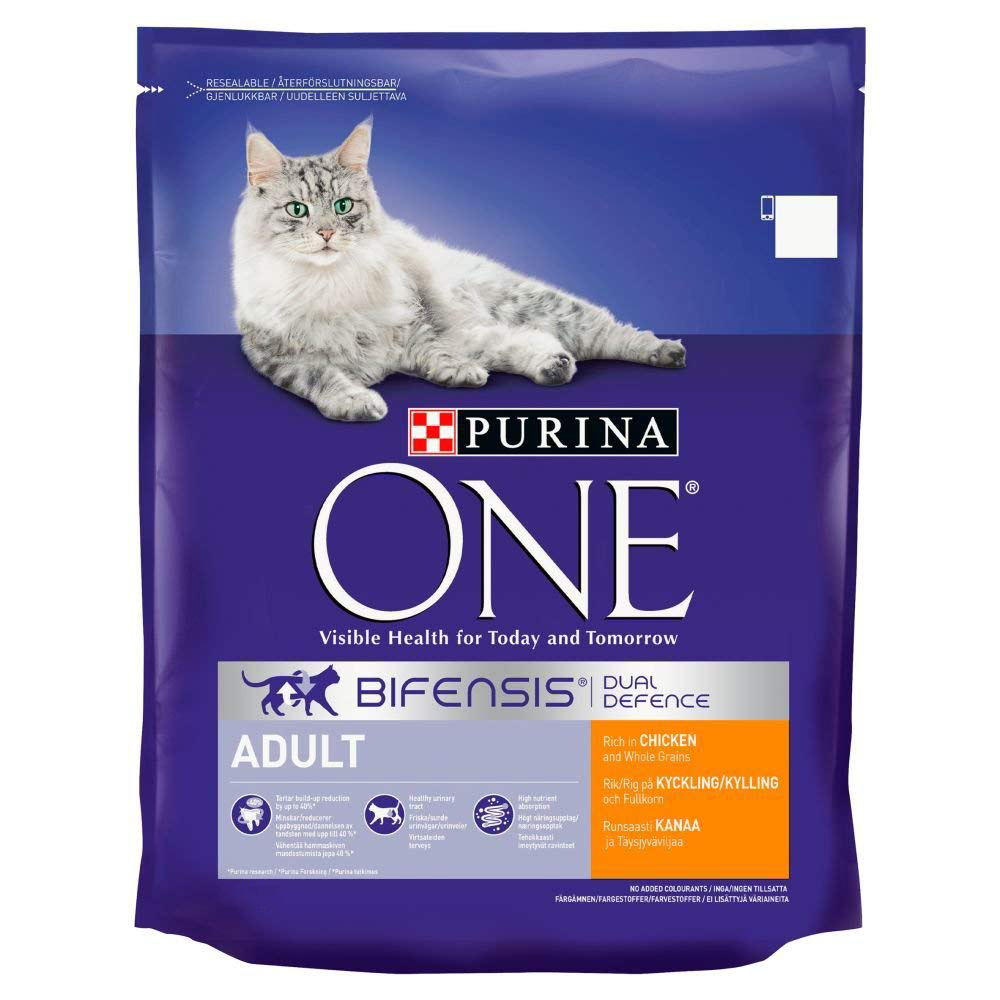 Picture of Purina One Adult Cat Food: Chicken and Grains (1.5kg)