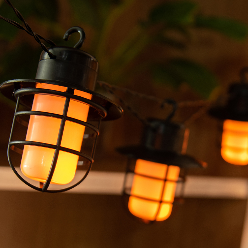 Picture of Firefly: 10 LED Solar Flickering Effect String Lanterns