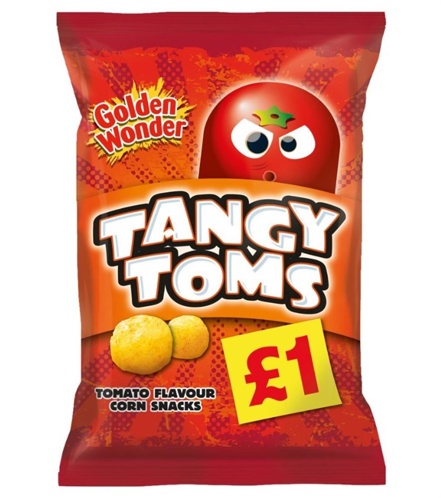 Picture of Golden Wonder Tangy Toms (12 x 110g bags)