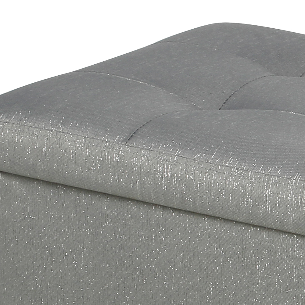 Picture of Foldable Large Glitter Poly Linen Ottoman
