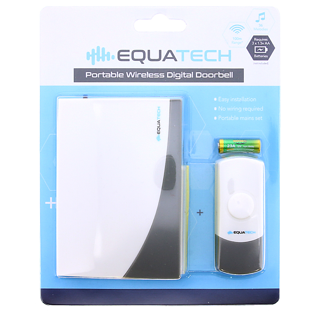 Picture of EquaTech Portable Wireless Digital Doorbell
