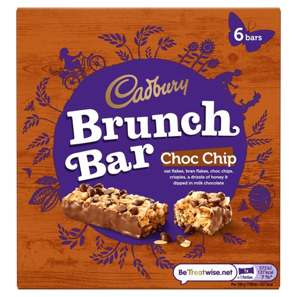 Picture of Cadbury Brunch Bars: Choc Chip (Case of 36 Bars)