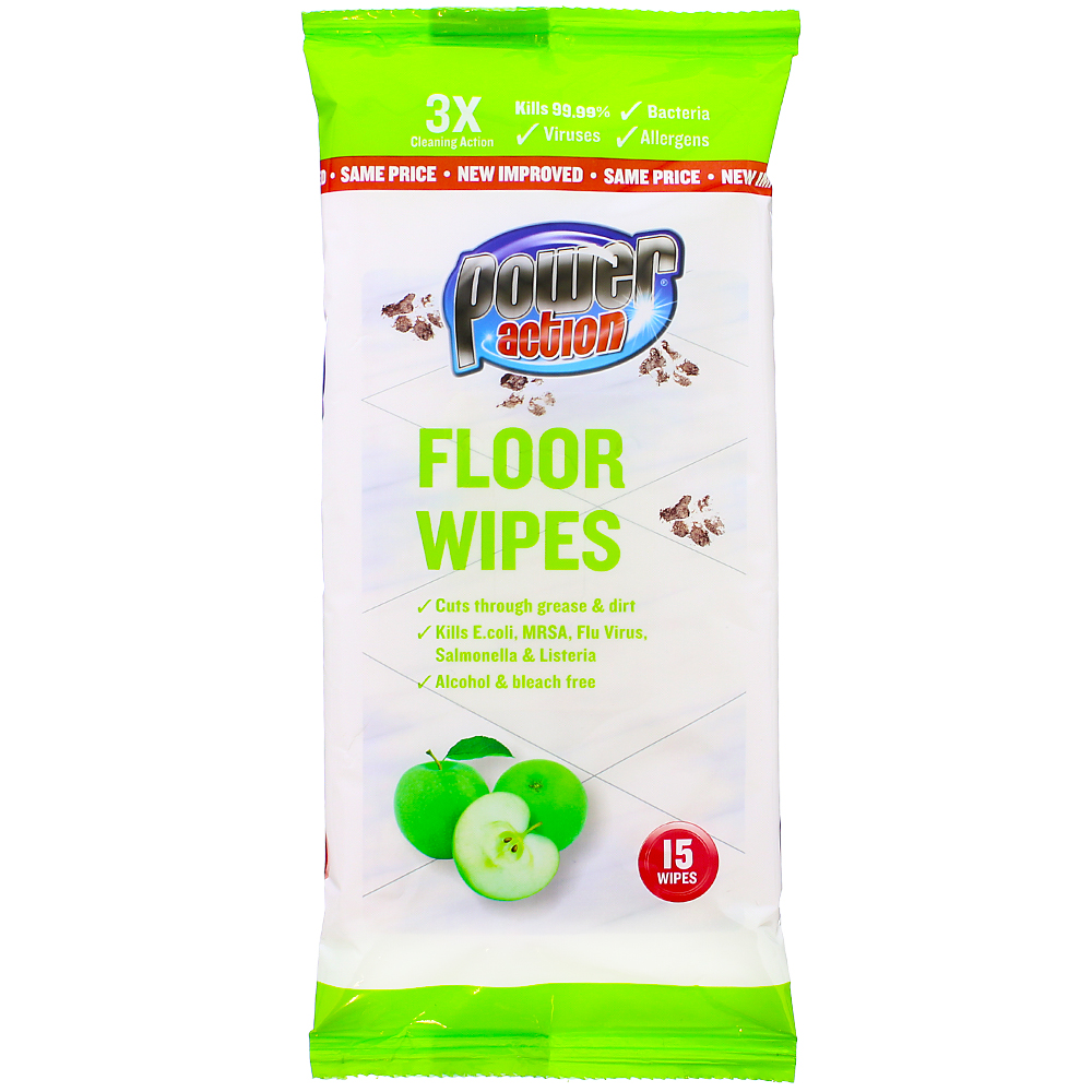 Picture of Power Action Floor Wipes (36 x 15 Wipes)
