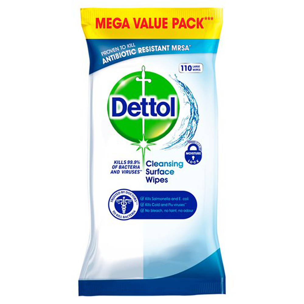 Picture of Dettol Cleansing Surface Wipes (3 x 110 Large Wipes)