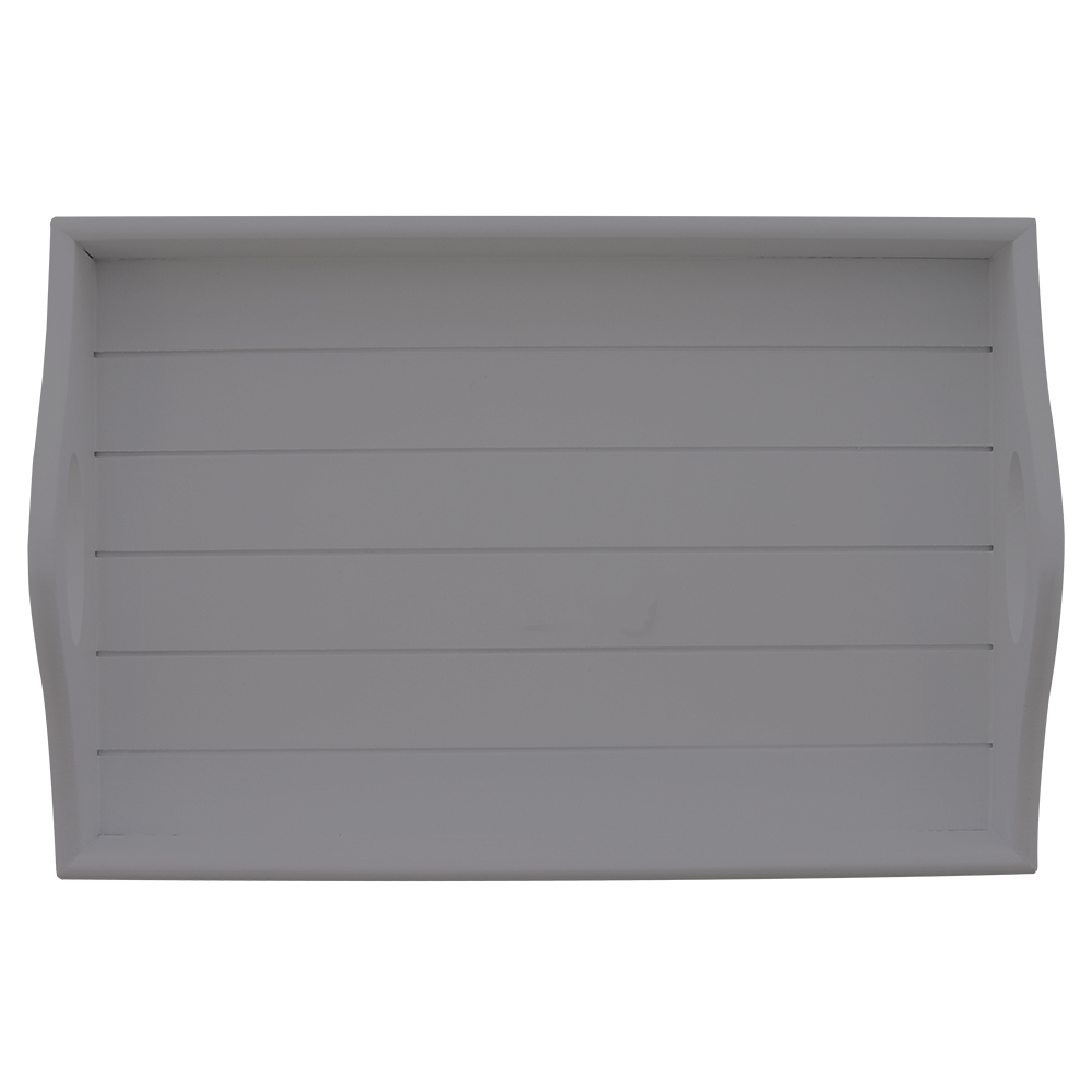 Picture of Home Collections Grey Wooden Sofa Tray