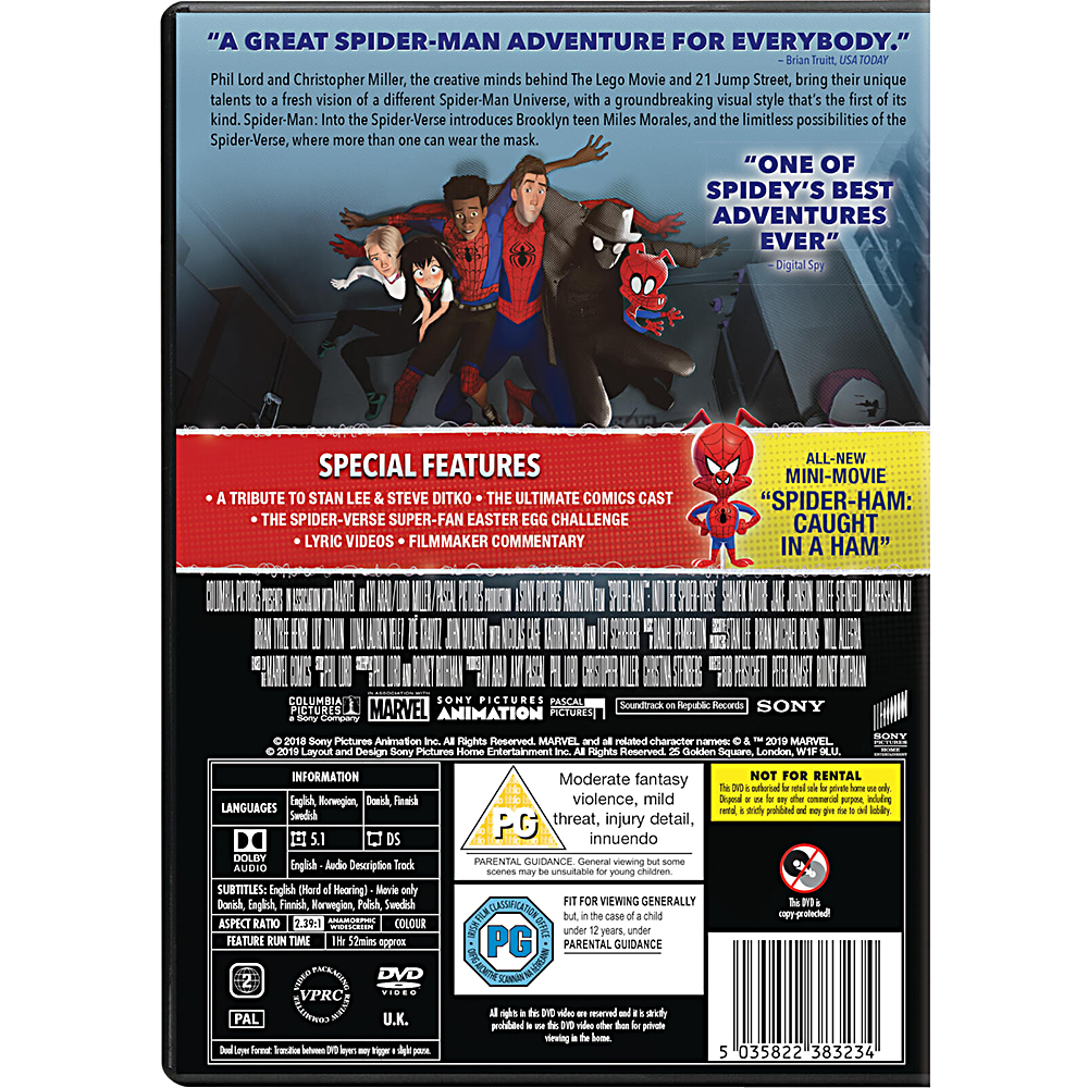 Picture of Spider-Man Into the Spider-Verse DVD