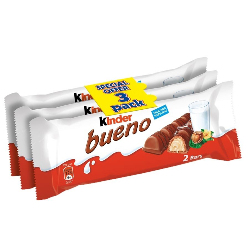 Picture of Kinder Bueno: Twin Bar (Case of 10 x 3 Multipacks)