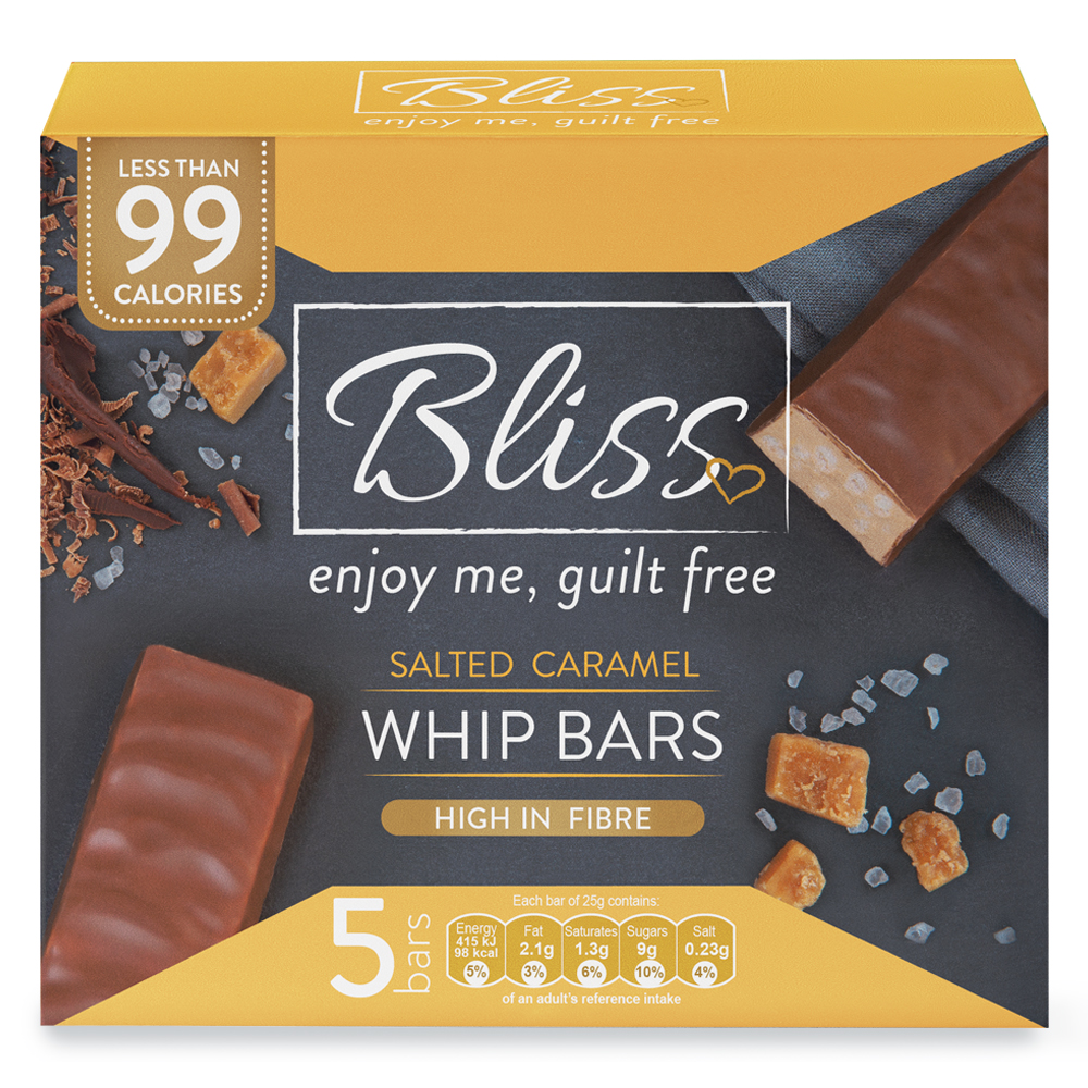 Picture of Bliss Whip: Salted Caramel (20 x 5 Bars)