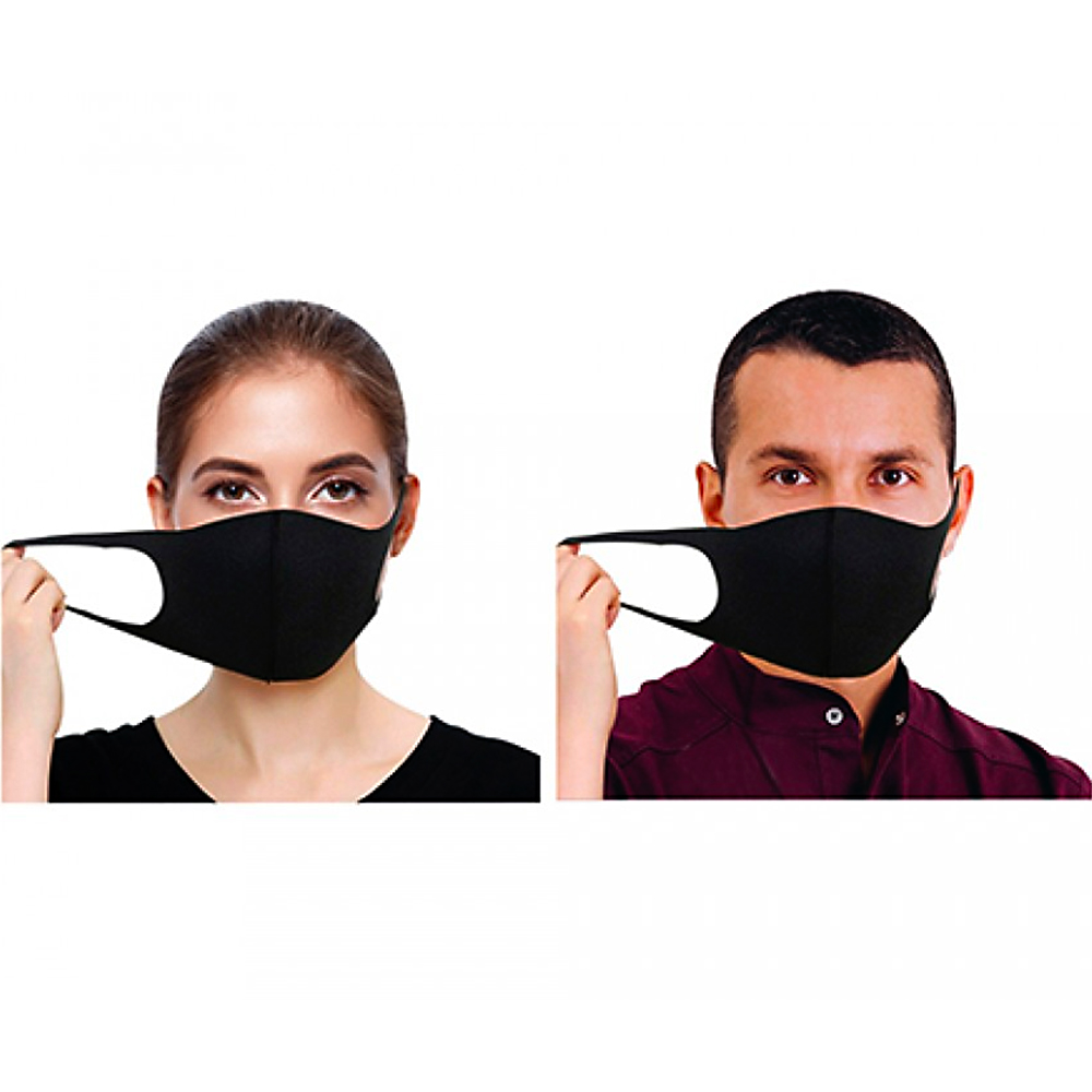 Picture of Washable Spandex Face Mask: Black