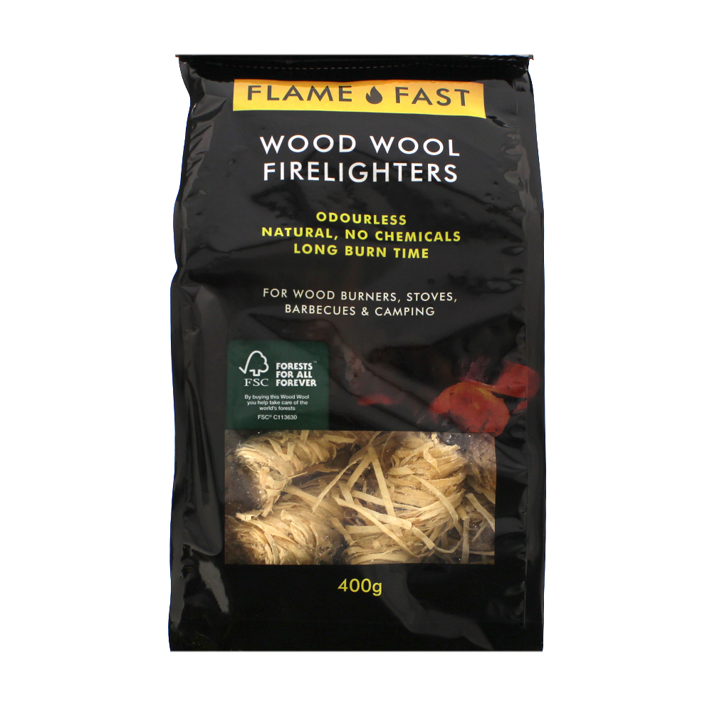Picture of Flame Fast Wood Wool Firelighters (12 x 400g Pack)