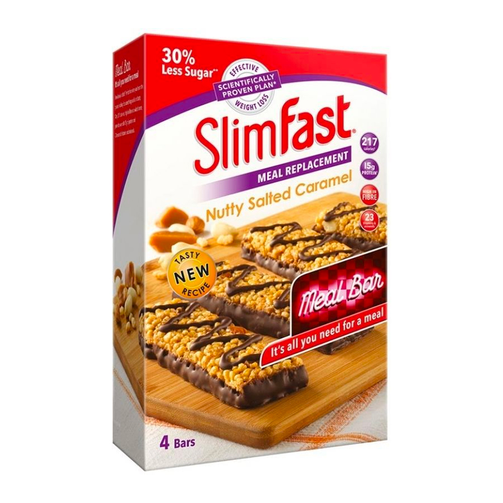 Picture of SlimFast Meal Bar: Nutty Salted Caramel (Case of 16)