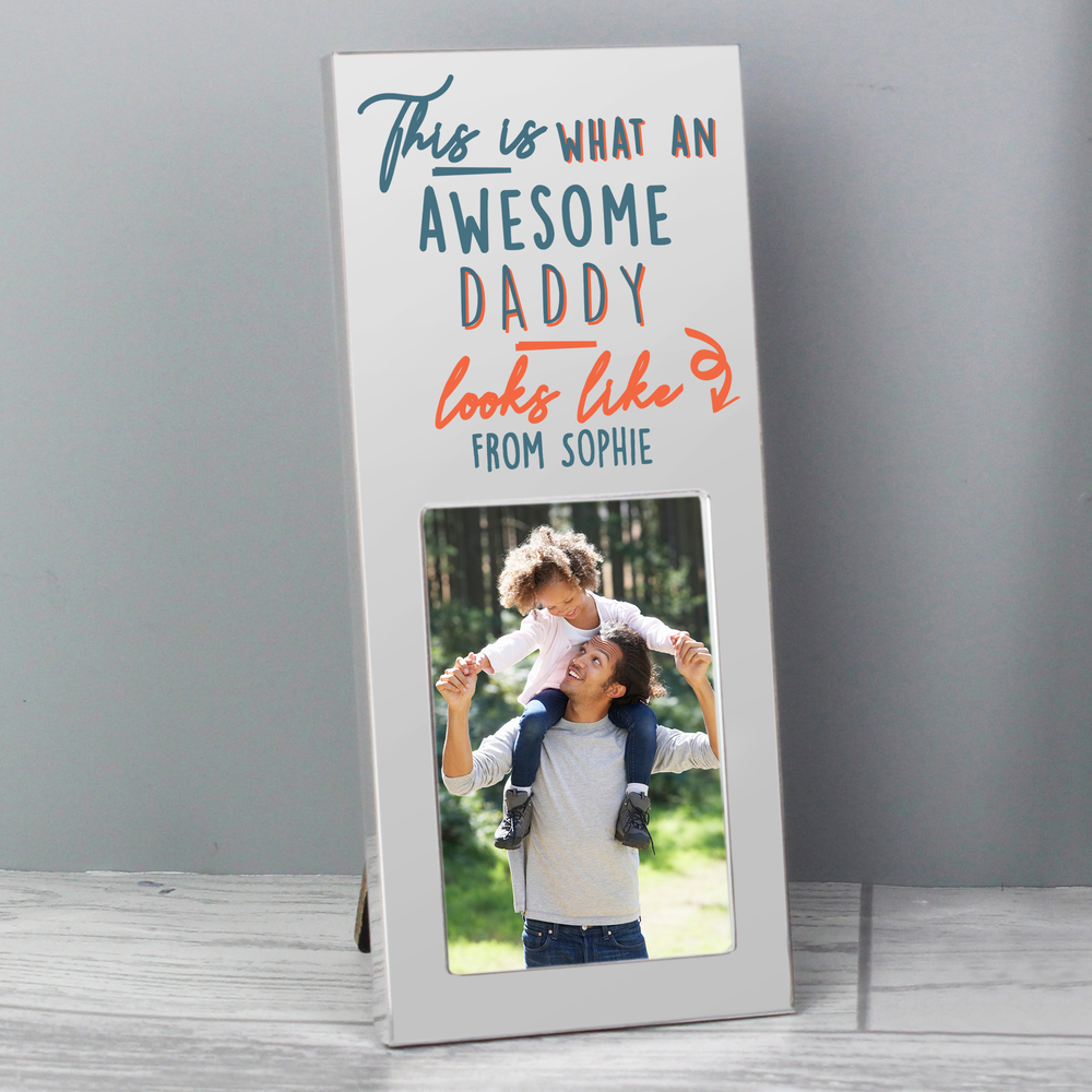 Picture of Personalised This Is What Awesome Looks Like Silver 2x3 Photo Frame