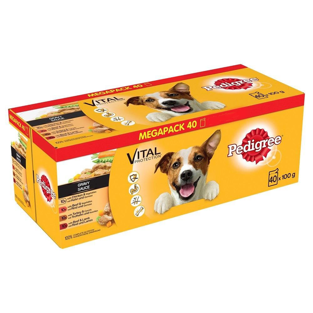 Picture of Pedigree Adult Vital Protection: Gravy (40 x 100g Pouches)