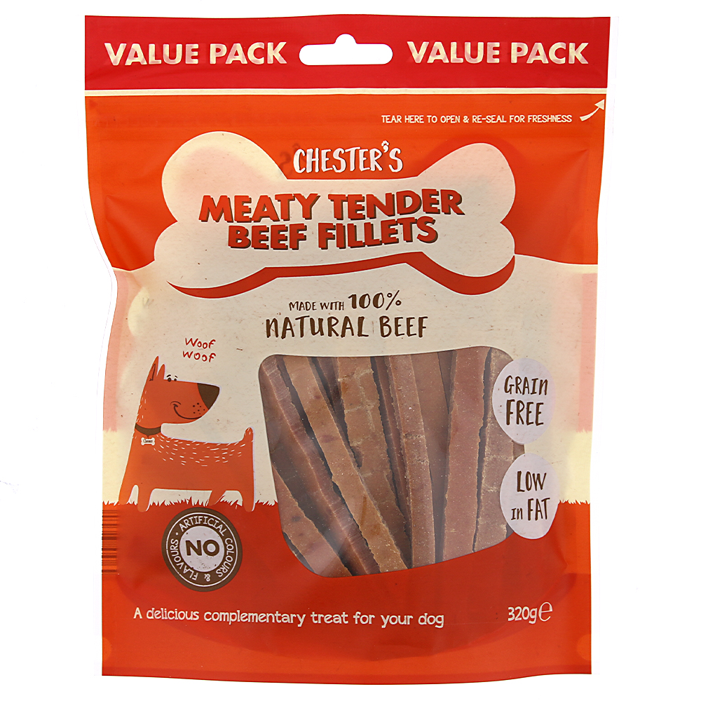 Picture of Chesters Meaty Tender Beef Fillets (6 x 320g Bags)