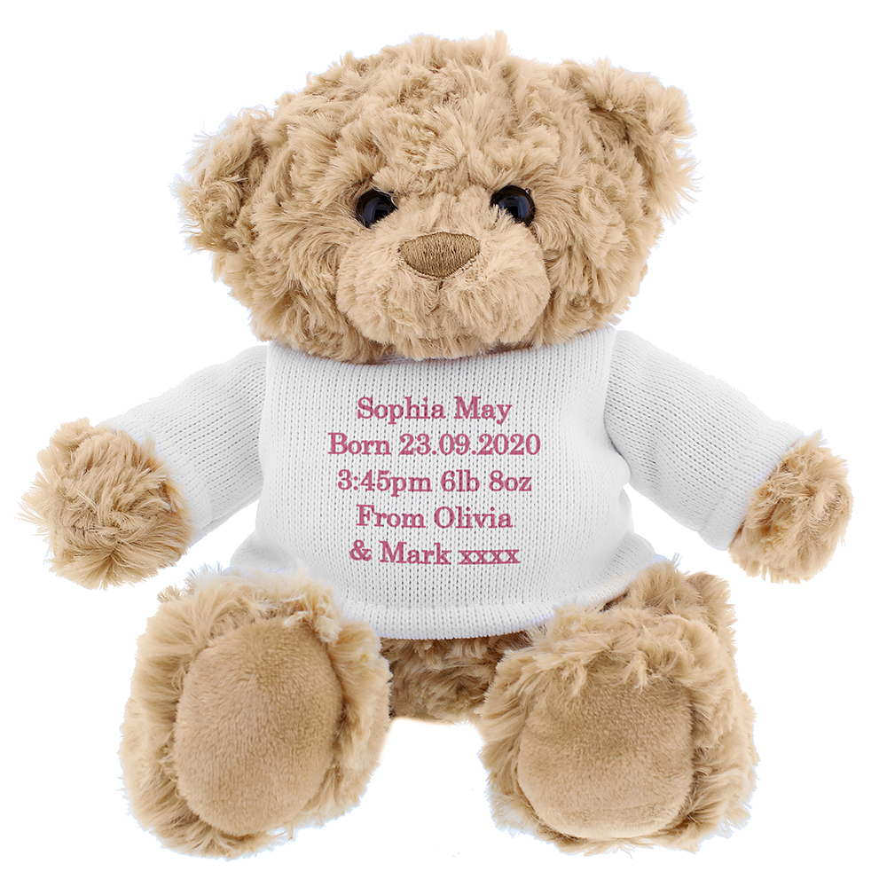 Picture of Personalised Pink Teddy Message Bear