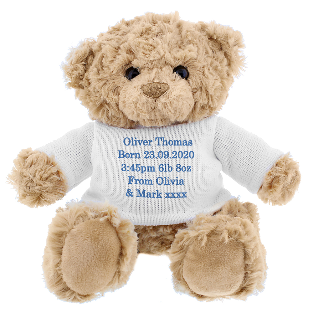 Picture of Personalised Blue Teddy Message Bear