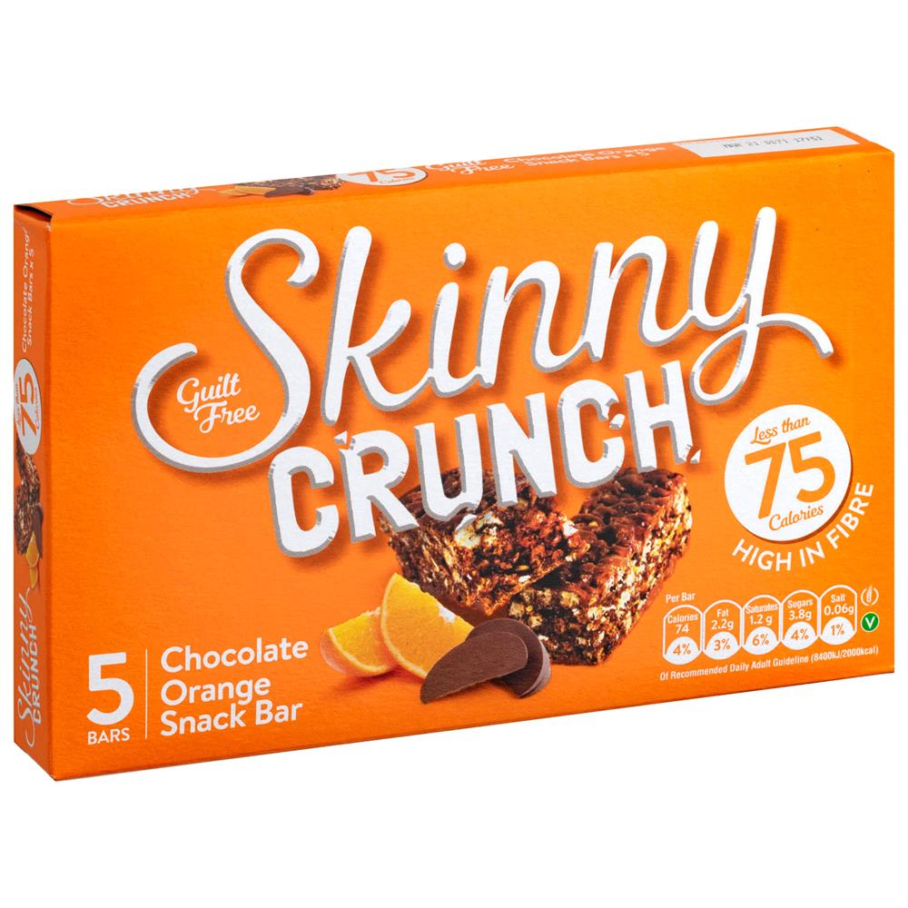 Picture of Skinny Crunch Chocolate Orange Snack Bar (10 x 5 Bars)