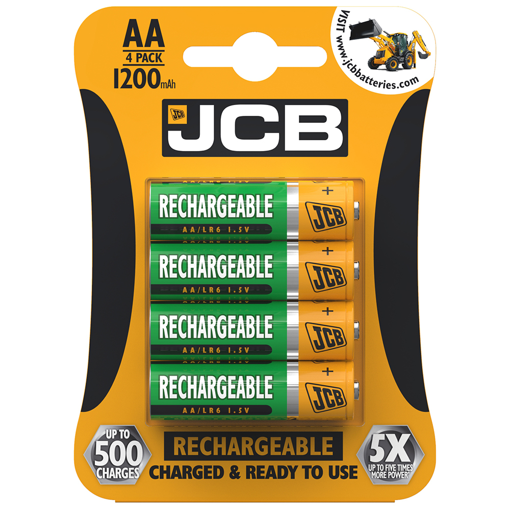 Picture of JCB AA Rechargeable Batteries (4-Pack)