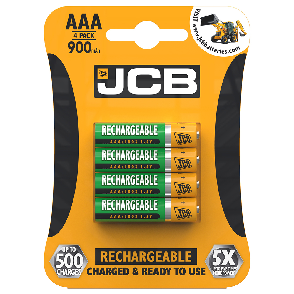 Picture of JCB AAA Rechargeable Batteries (4-Pack)