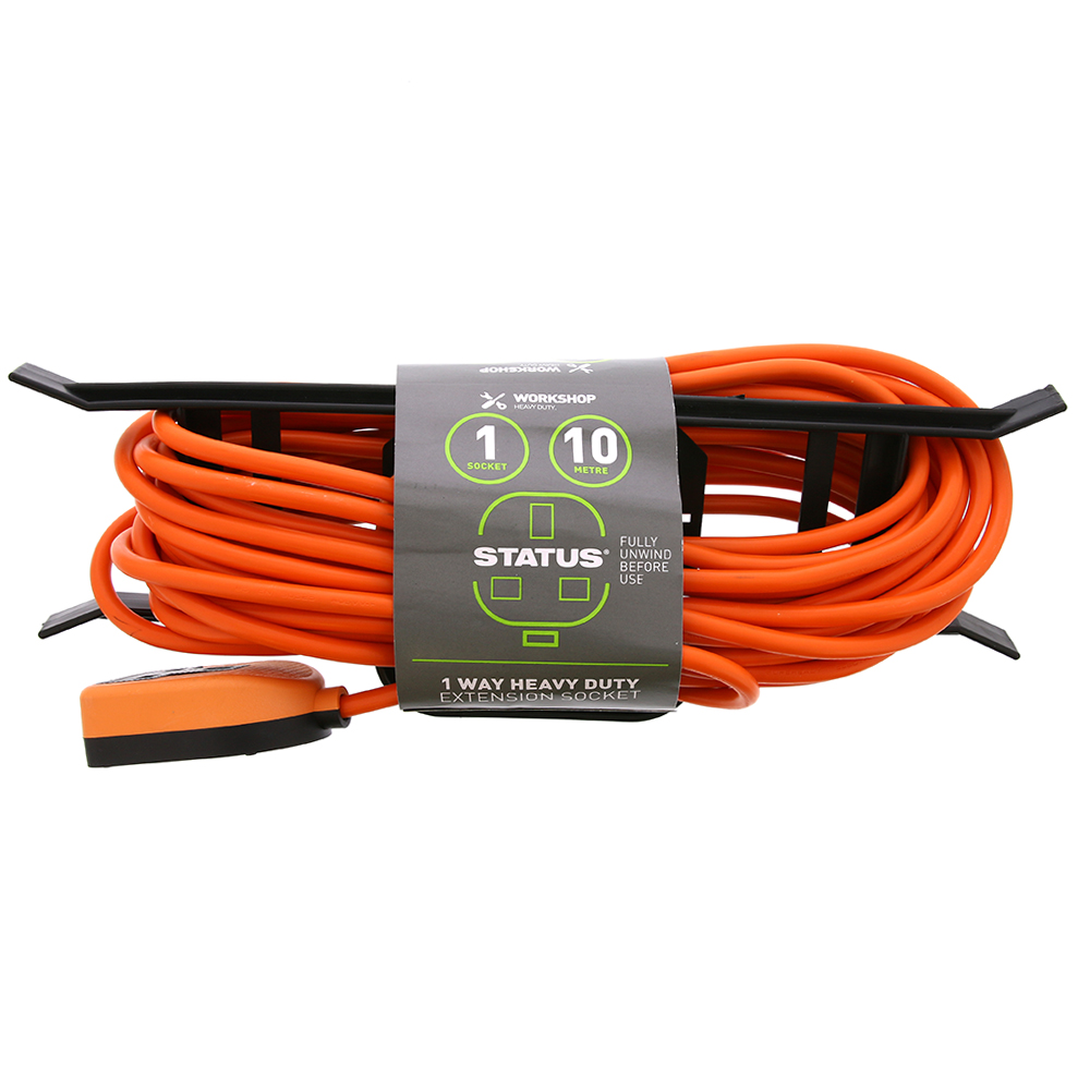 Picture of Status 1 Way Heavy Duty Extension Socket
