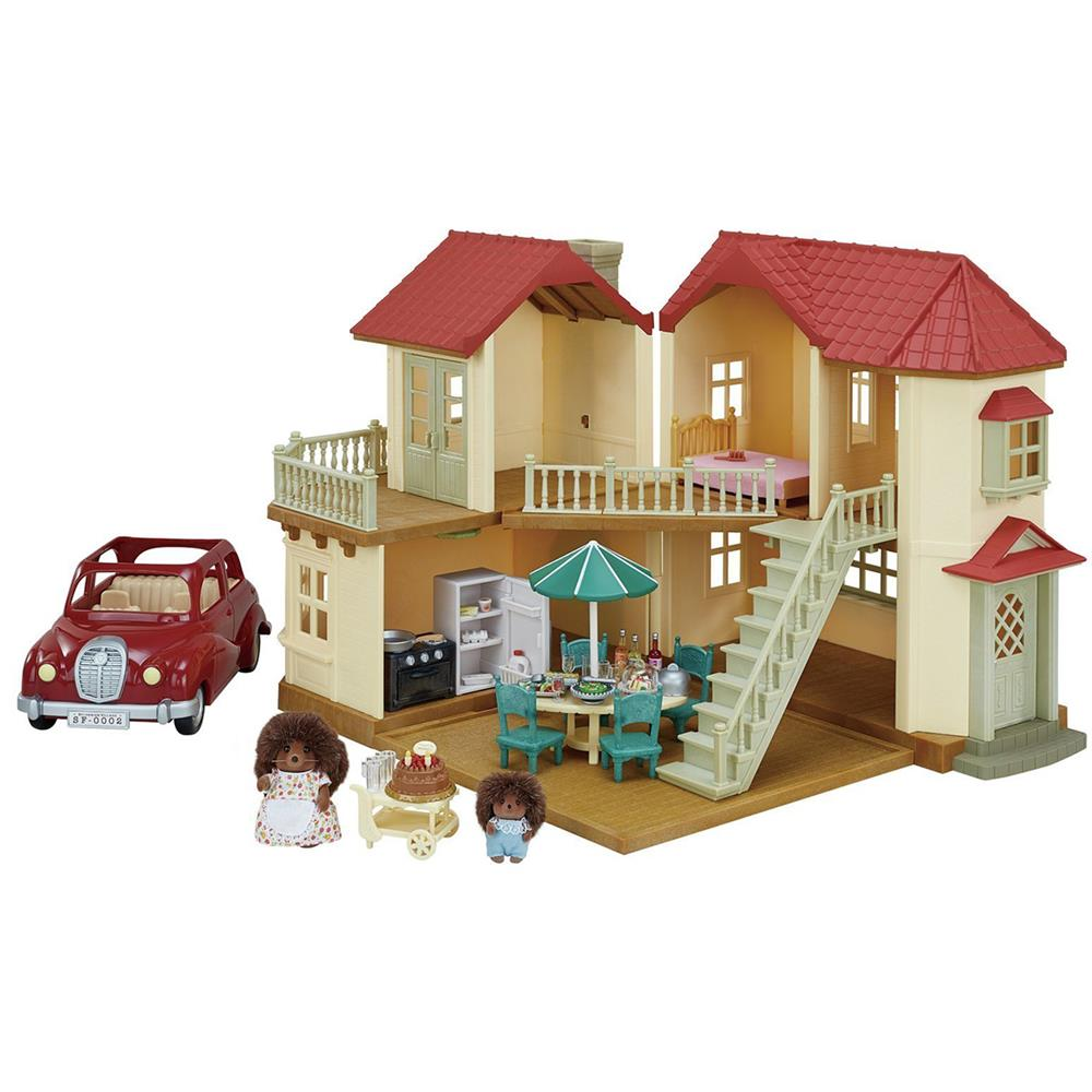 Picture of Sylvanian Families Beechwood Hall Gift Set and Family Saloon Car