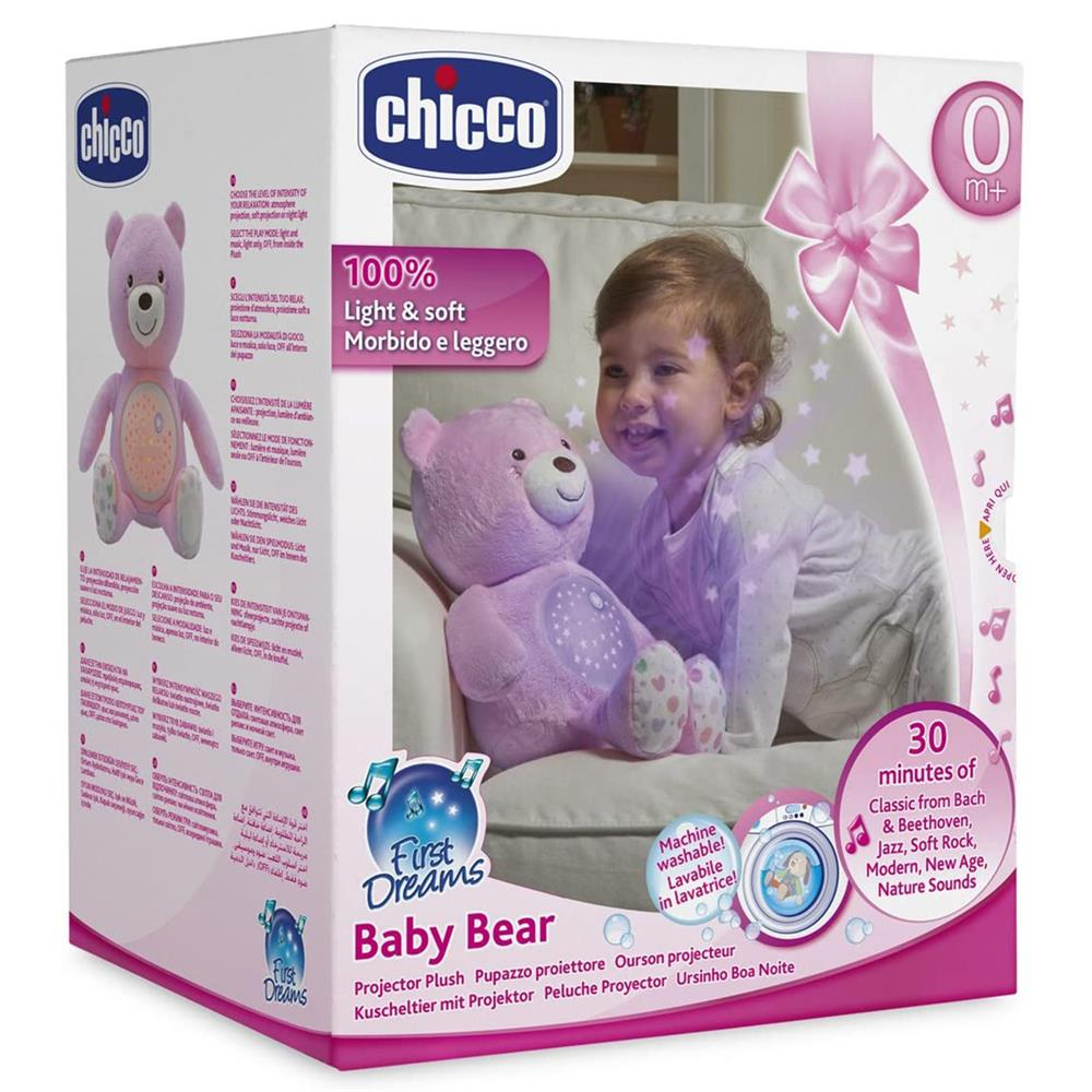Picture of Chicco First Dreams Baby Bear Projector Plush (Pink)