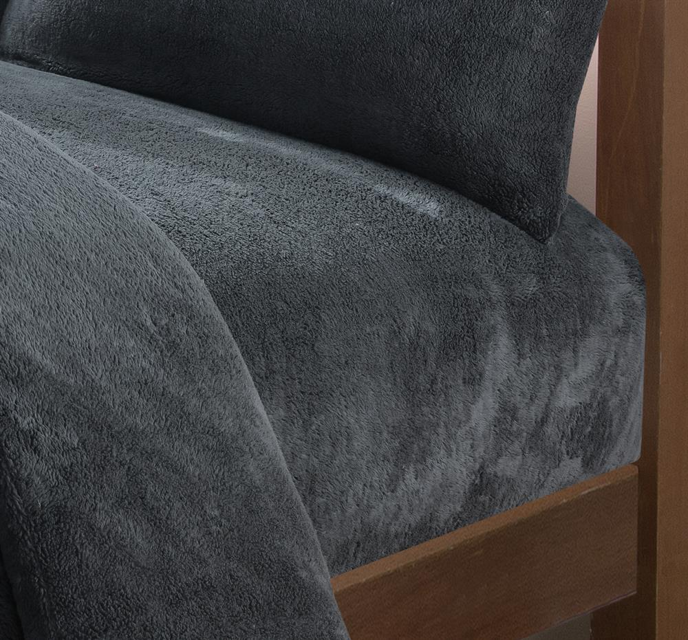 Picture of Fleece Teddy Fitted Sheet: Grey