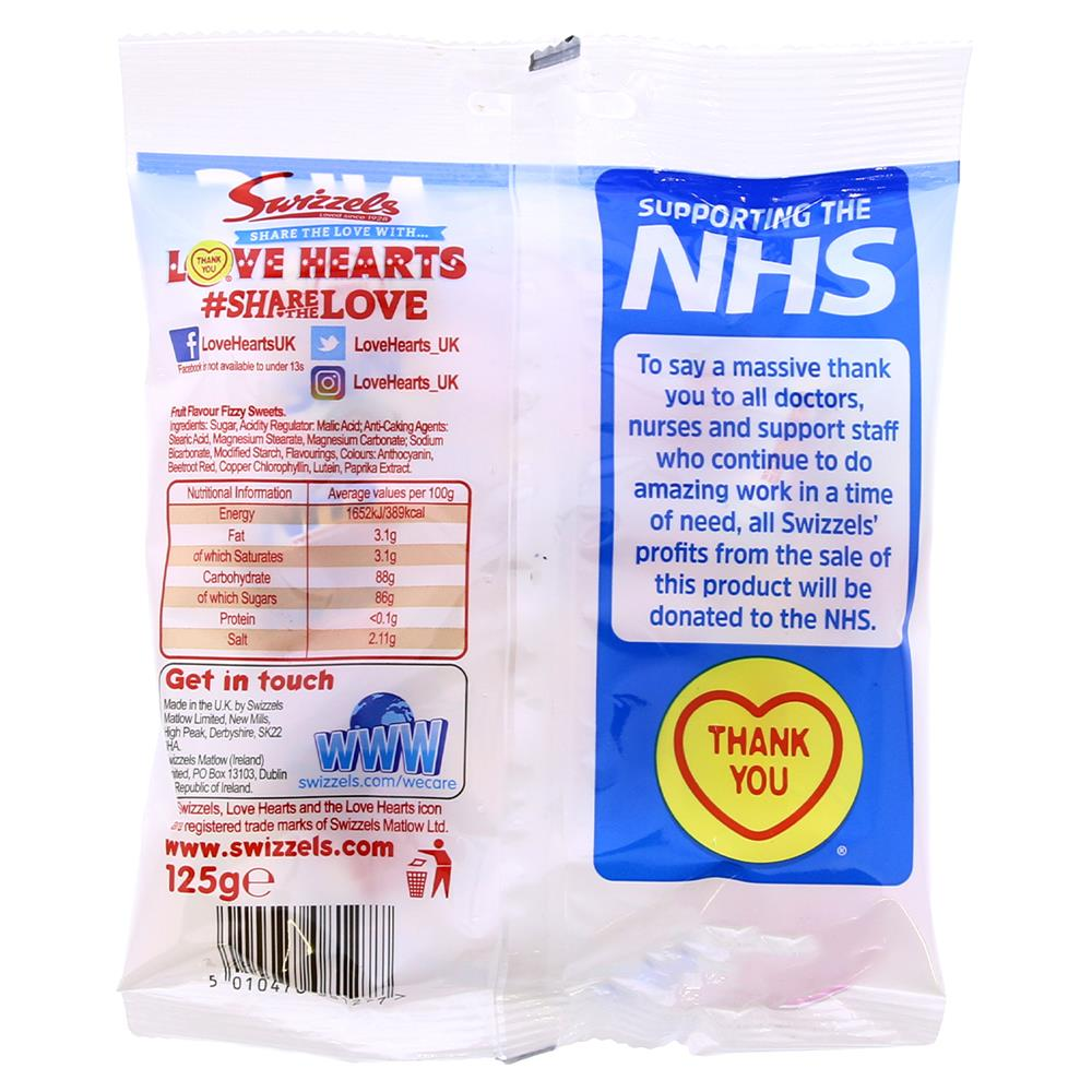 Picture of Love Hearts: Supporting the NHS (10 x 125g Bags)