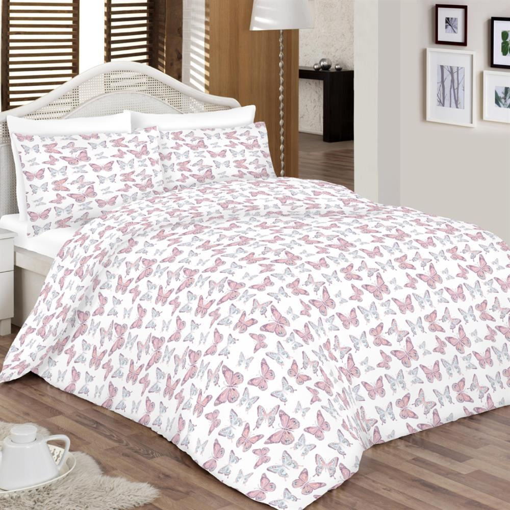 Picture of Home Collections Blush Pink Butterfly Duvet Set