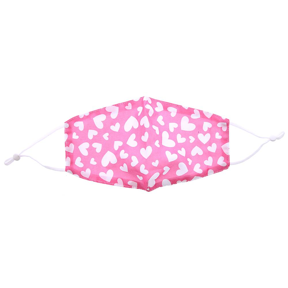 Picture of Pink Hearts Reusable Face Covering (Case of 4)