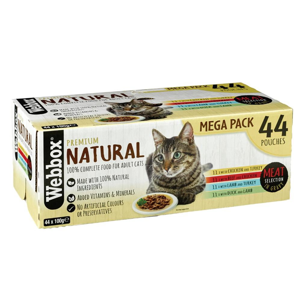 Picture of Webbox Premium Natural Meat Selection in Gravy (44 Pouch Mega Pack)